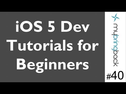 Learn Xcode 4.2 Tutorial iOS iPad iPhone 1.40 Pan Gesture Recognizer