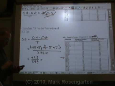 Chemistry Tutorial 9.4d:  Determining Delta S and Equilibrium Temperature