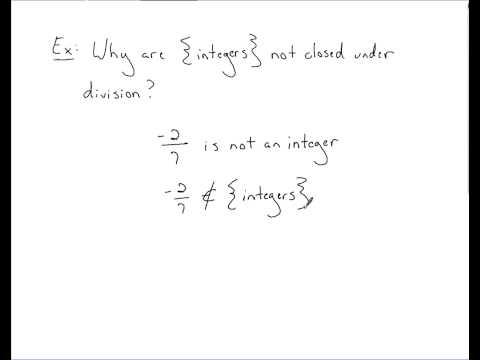 Algebra - Field Axioms (Closure)