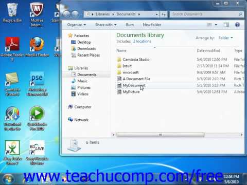 Windows 7 Tutorial Selecting Files Microsoft Training Lesson 6.2