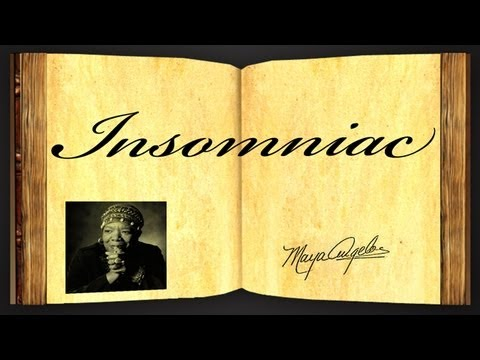 Pearls Of Wisdom - Insomniac by Maya Angelou - Poetry Reading