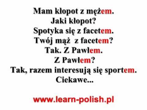 4 Polish grammar. Instrumental case. Singular. Masculine.