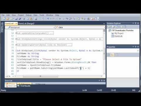 Visual Basic Tutorial - 184 - FTP Downloader Part 7   Uploading Files
