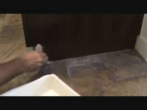 Sealing a natural stone tile kitchen floor