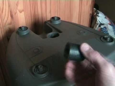 Kam Soundforce 12A  Active speaker. Fitting rubber feet on
