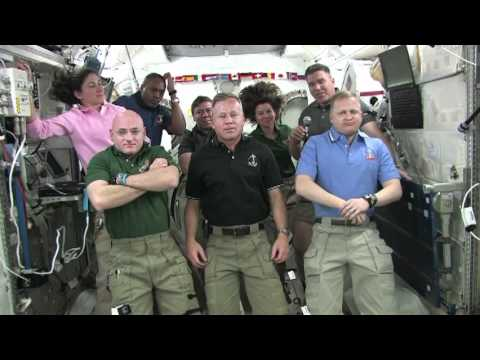 STS-133 and Expedition 26 Crews Talk With Media