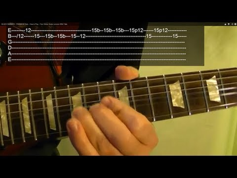 PARANOID SOLO by (Guitar Lesson)  BLACK SABBATH With Tabs