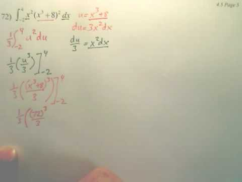 4.5e Integration by Substitution - Calculus