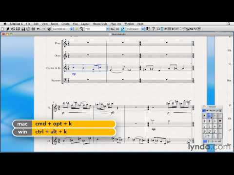 How to make bar and staff selections in Sibelius | lynda.com tutorial