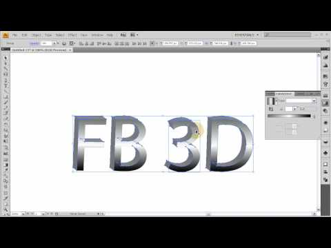 Custom 3D Logo and Text Creation Tutorial - Illustrator CS4