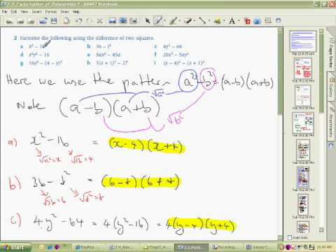 Factorisation Basics Part B