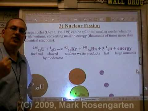 Chemistry Tutorial 4.4b:  Nuclear Power (Fission And Fusion)