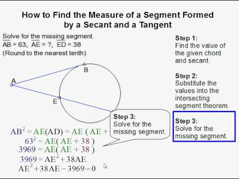 How to Find a Segment Formed by a Secant and Tangent