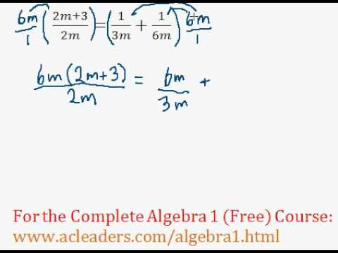 (Algebra 1) Rational Expressions - Solving an Equation #3