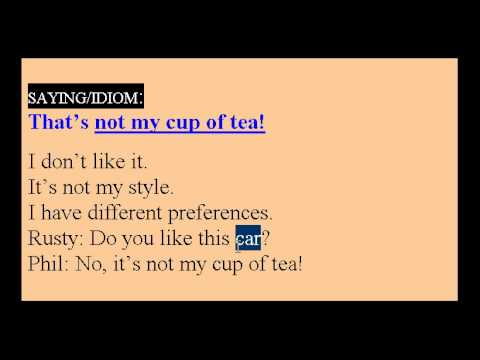Learn English Idioms Lesson #15
