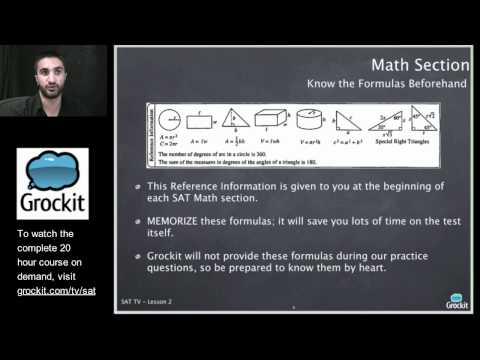 Grockit SAT TV Course Lesson 2, Part 1 (Math, Numbers and Operations)
