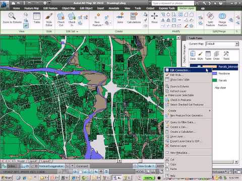 AutoCAD Map 3D and the spatial analysis -flood analysis