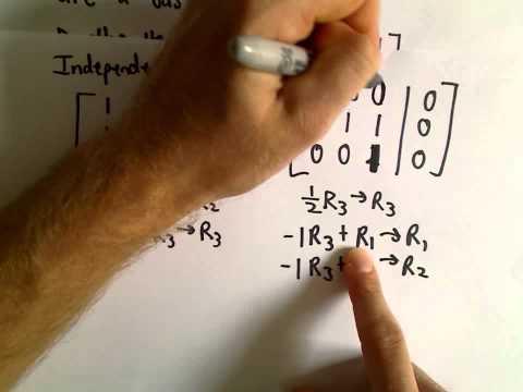 Basis for a Set of Vectors