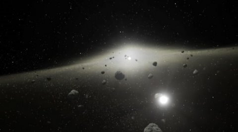 Spacecraft on its way to the Asteroids