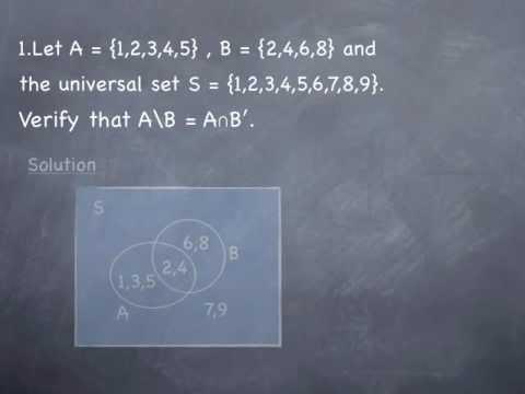 Mathematics Sets Basic Ideas Exercise One