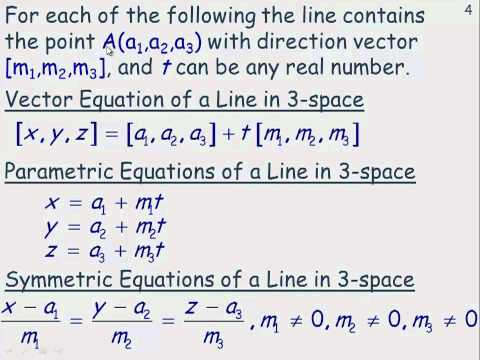 The Equation of a Line in 3-Space.mp4
