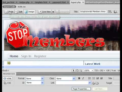 Create Members Area - Logout Page Lesson 8