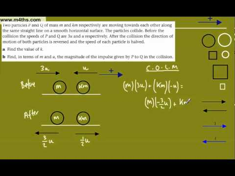 (9) C.O.L.M Mechanics M1 (q9) - conservation of linear momentum