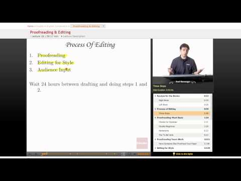 English Composition: Proofreading & Editing