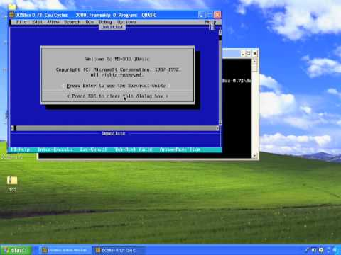 Running DOS Programs on Windows XP, Vista, W7 (Windows 7)  With DOSBox - Free Download Link