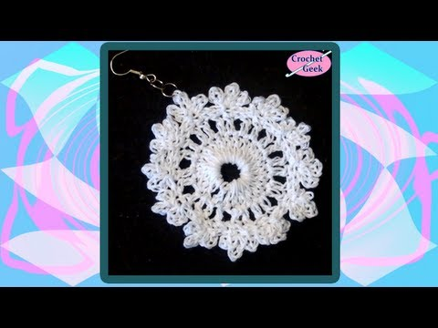 Crochet Earring Fern