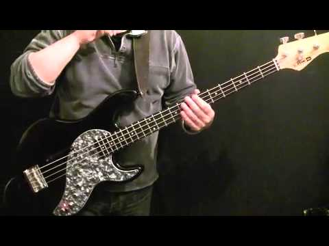 How to Play Bass Guitar To Paint It Black - Rolling Stones - Bill Wyman