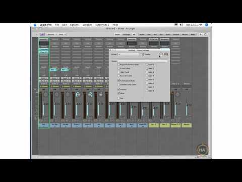 Apple Logic Pro 8 Ch 12 Grouping and Master Output - Group Setting, Group Clutch, Mastering Effects
