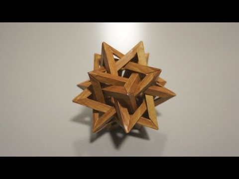 """Wooden"" Five Intersecting Tetrahedra (Thomas Hull) - Not a tutorial"