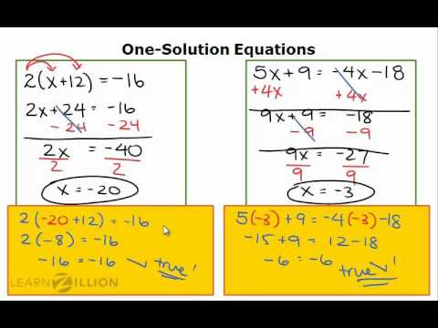 Solve equations with no solutions - 8.EE.7