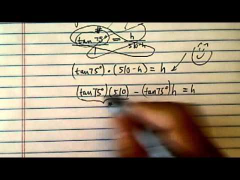 Trigonometry Problem: solve for h if  tan 75=(h/510-h)?