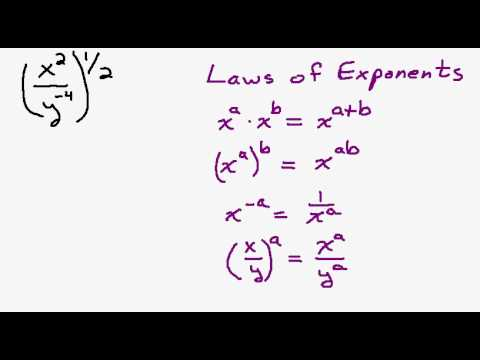 Simplify Fractional Exponents Using the Laws of Exponents Part 1