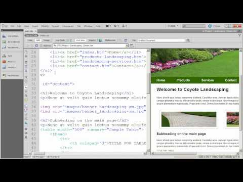 Setting up layout and formatting CSS (4) - Coyote Landscaping - Part 13