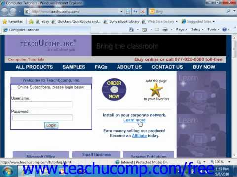 Windows 7 Tutorial About the Internet Microsoft Training Lesson 7.1