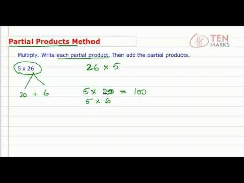 Multiply by 1 Digit Numbers using Partial Product Method