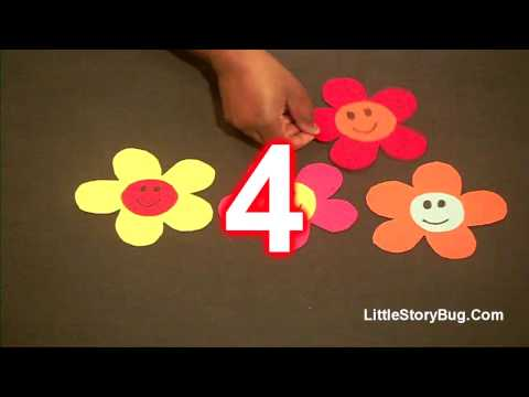 Preschool song for Spring - 5 Spring Flowers - Littlestorybug