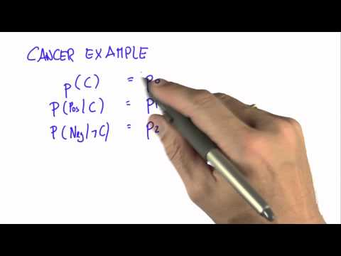 Cancer Example 1 - Intro to Statistics - Programming Bayes Rule - Udacity