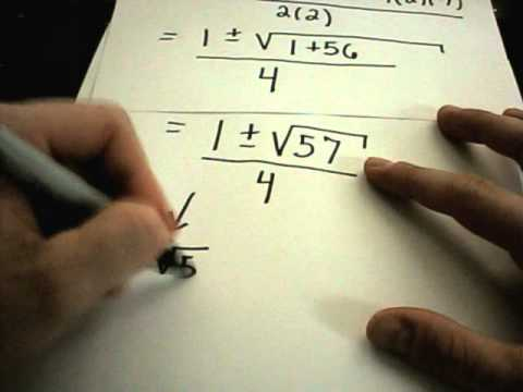 Solving Quadratic Equations - Factoring and Using the Quadratic Formula
