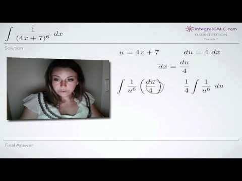 U-Substitution Example 2