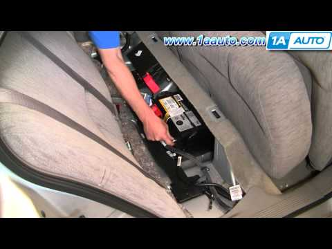 How To Locate and disconnect Battery Buick Lesabre Pontiac Bonneville 00-05 1AAuto.com