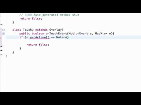 Android Application Development Tutorial - 133 - Overlay MotionEvent time