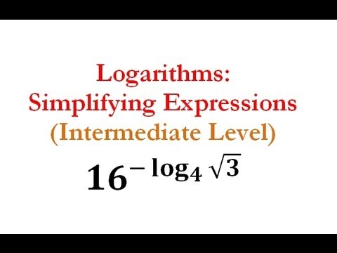 (Advanced) Log Expression - Simplifying (pt. 1)