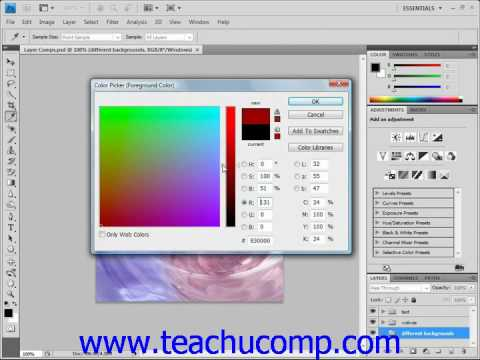Photoshop Tutorial Using the Color Picker Adobe Training Lesson 4.6