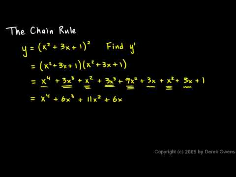 Calculus 3.07a - The Chain Rule