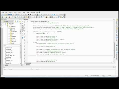 CodeIgniter Tutorials: Basic Website - Email Library (Sending Email) (Part 8/8)