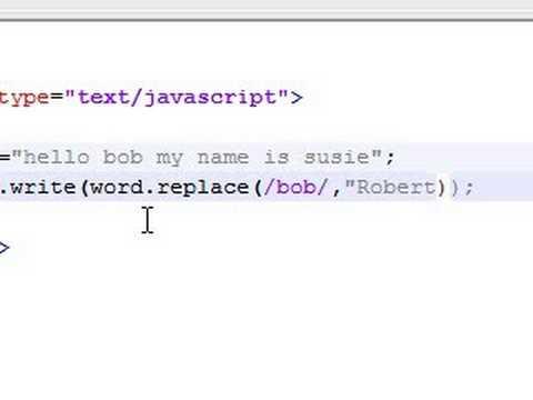 Javascript Tutorial - 21 - replace